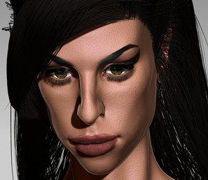 amy winehouse 3D model