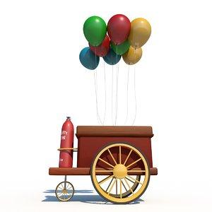 3D cart balloons