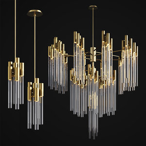 3D burj chandelier pendant luxxu