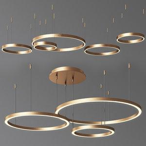 3D model ring chandelier 3