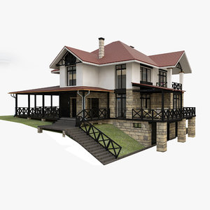 individual house 3D model