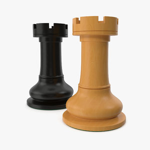 3D chessmen rook model