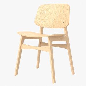 soborg oak wood chair model