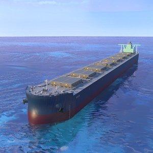 3D model ship bulk carrier