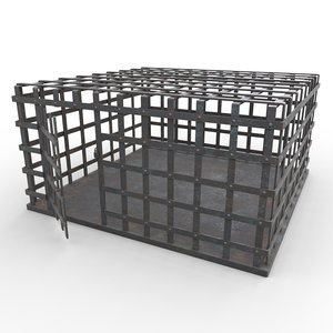 3D metal cage - pbr model