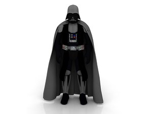 3D model black character darth vader
