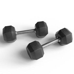 dumbbell fitness weight 3D model