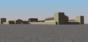 3D rusty jail