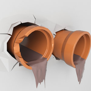 pipes sewer 3D