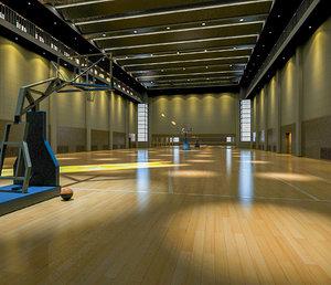 3D gym interior model
