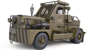 3D car mud model