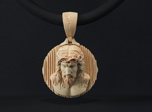 jeweleyr jesus pendant printing model