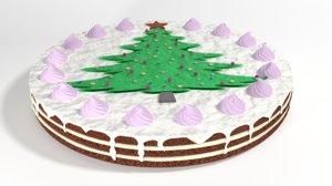 cake christmas 3D model