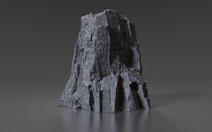 3D cliff rock 004