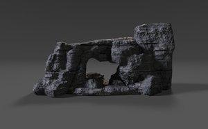 3D cliff rock 009