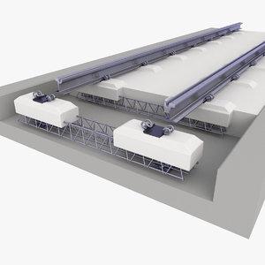 3D track rail railway