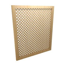 partition screen 3D model