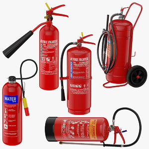 5 extinguisher 3D model