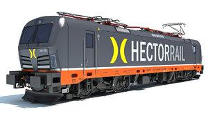 3D model siemens vectron locomotive hector