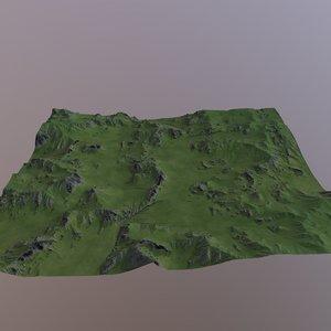 landscape nature terrain model