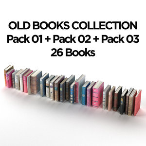 old books 3D