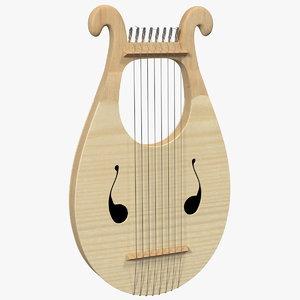 3D greek lyre harp 8