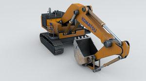 3D komatsu pc1250