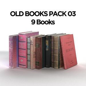 old books pack 03 model