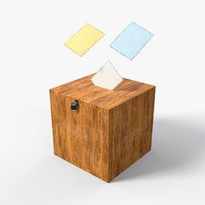 vote box 3D model