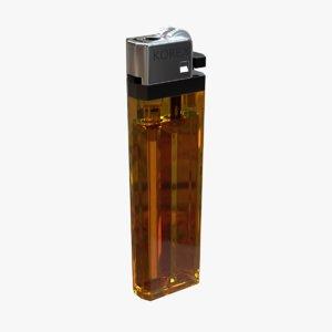 3D disposable cigarette lighter model