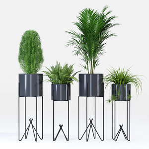 3D pot flowerpot