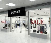 Fashion Store Outlet interior scene Render