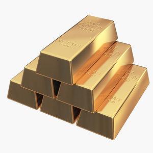 3D gold bar
