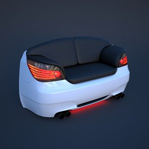3D chair car furniture seat