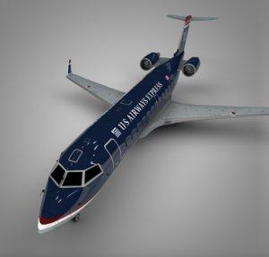 3D model air wisconsin airways express