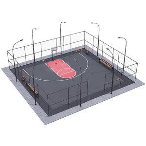 basketball field 3D