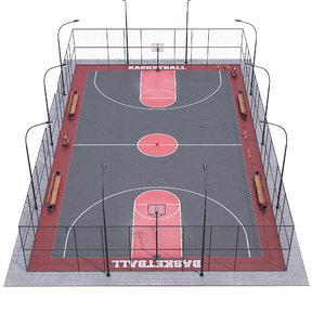 basketball ball court model