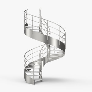spiral stair staircase 3D