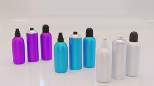 3D deodorant bottle model