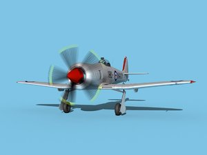 3D propeller hawker sea fury model