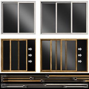 doors sliding glass 3D model