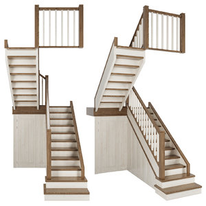 3D model stairs step