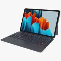 Samsung Galaxy Tab S7 with Keyboard and S-Pen All Colors Rigged