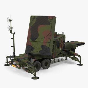 patriot camouflage mpq53 radar 3D
