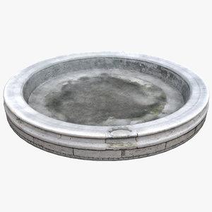 fountain basin 3D model