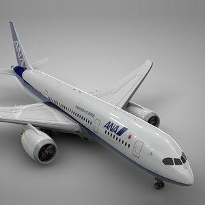 boeing 787 dreamliner ana 3D