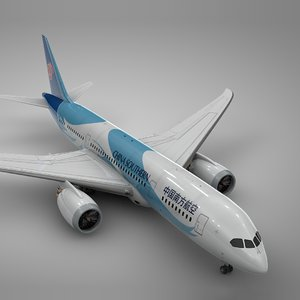 boeing 787 dreamliner china 3D model