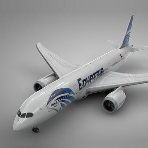 3D boeing 787 dreamliner egyptair