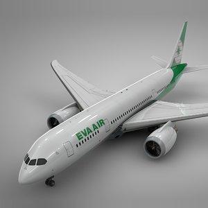 boeing 787 dreamliner eva 3D