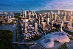 central business district 3D model